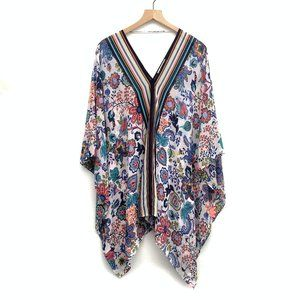 Milly Colorful Floral Beach Cover Up - Size S/M